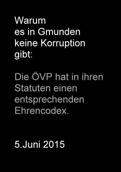 Plakat Warum keine Korruption in Gmunden gibt-2